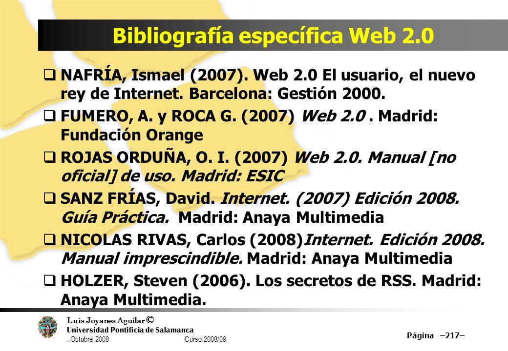 Bibliografía específica Web 2.0