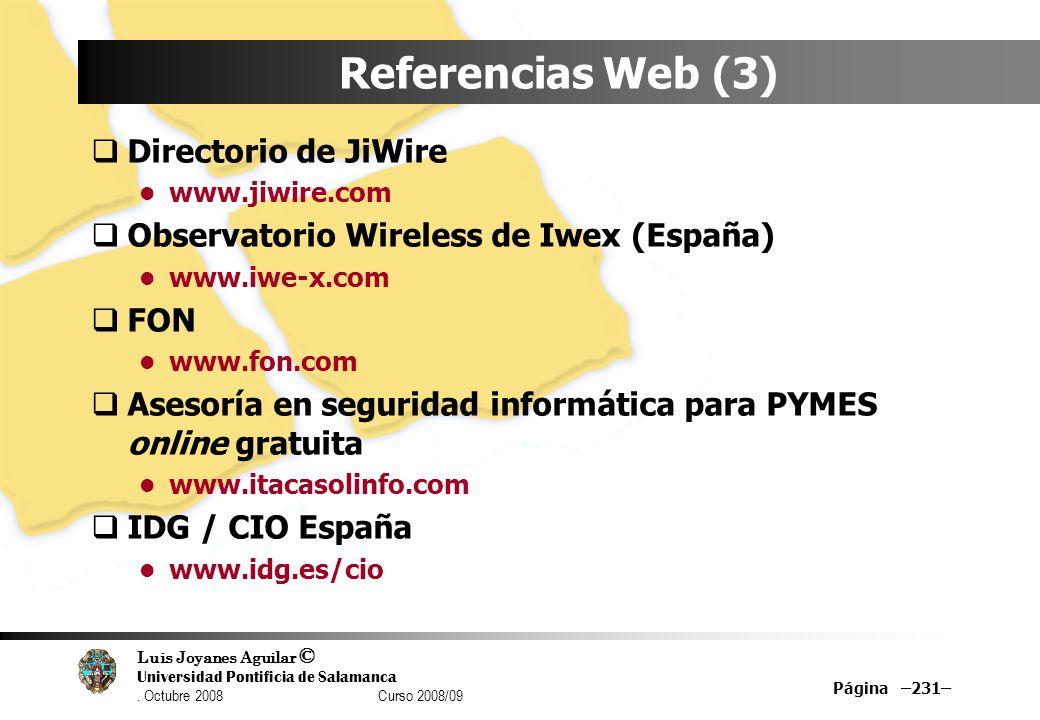 Referencias Web (3) Directorio de JiWire