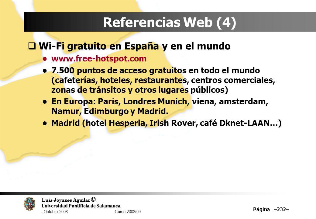 Referencias Web (4) Wi-Fi gratuito en España y en el mundo