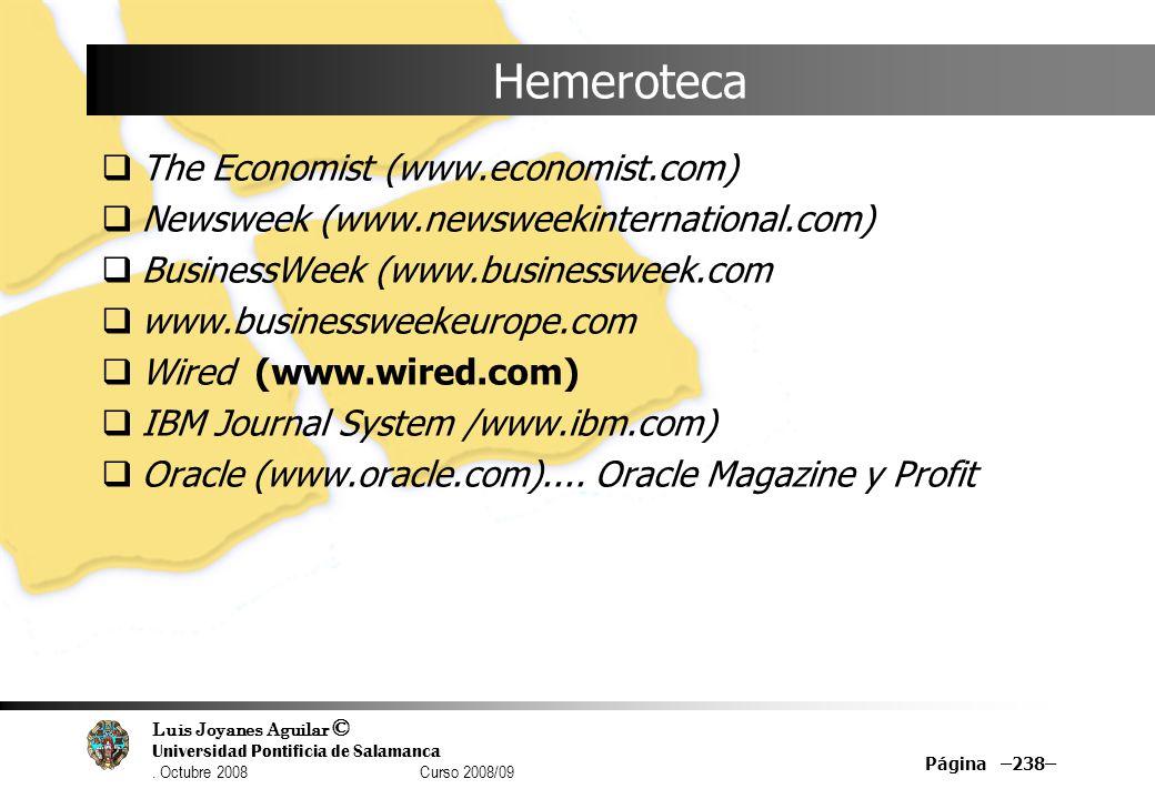 Hemeroteca The Economist (www.economist.com)