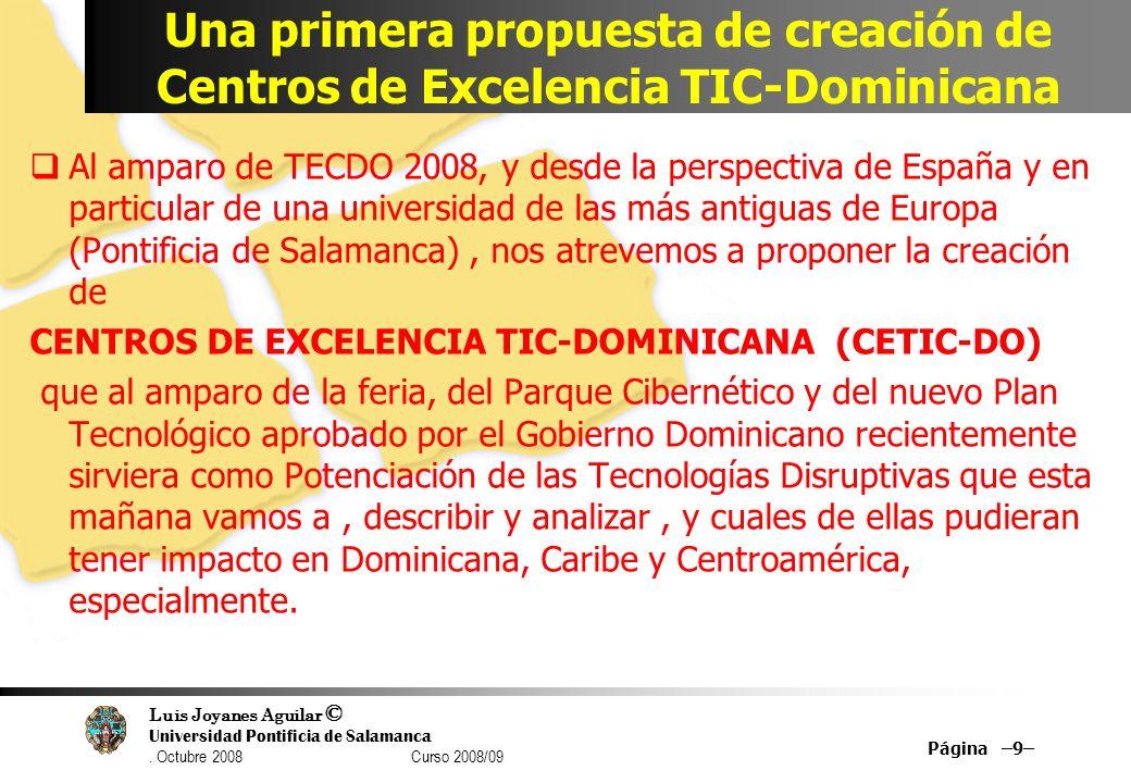 Una primera propuesta de creación de Centros de Excelencia TIC-Dominicana