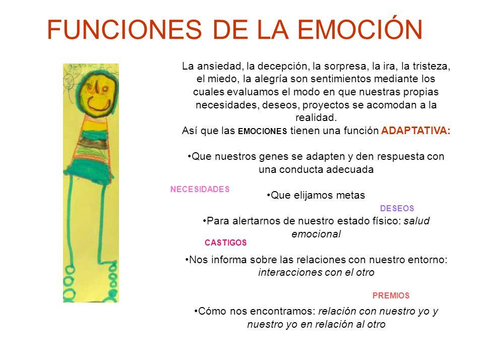 FUNCIONES DE LA EMOCIÓN