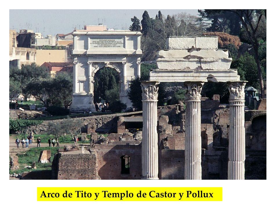Arco de Tito y Templo de Castor y Pollux