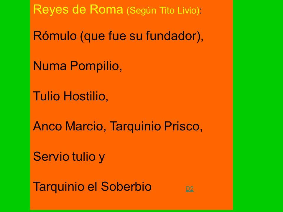 Reyes de Roma (Según Tito Livio):