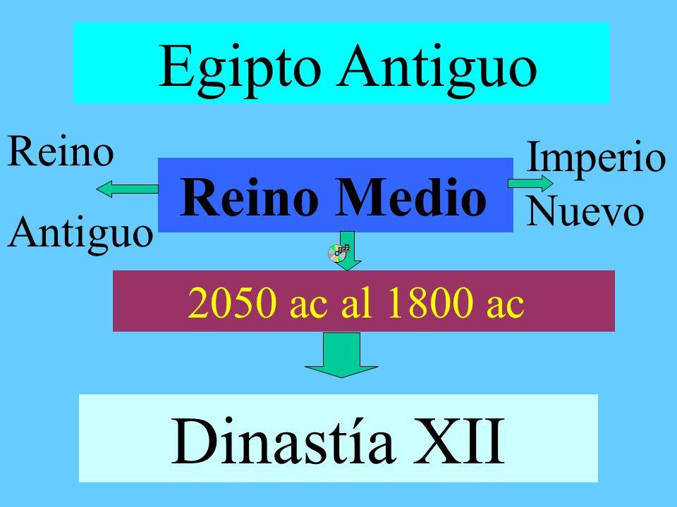 Dinastía XII Egipto Antiguo Reino Medio Reino Imperio Nuevo Antiguo