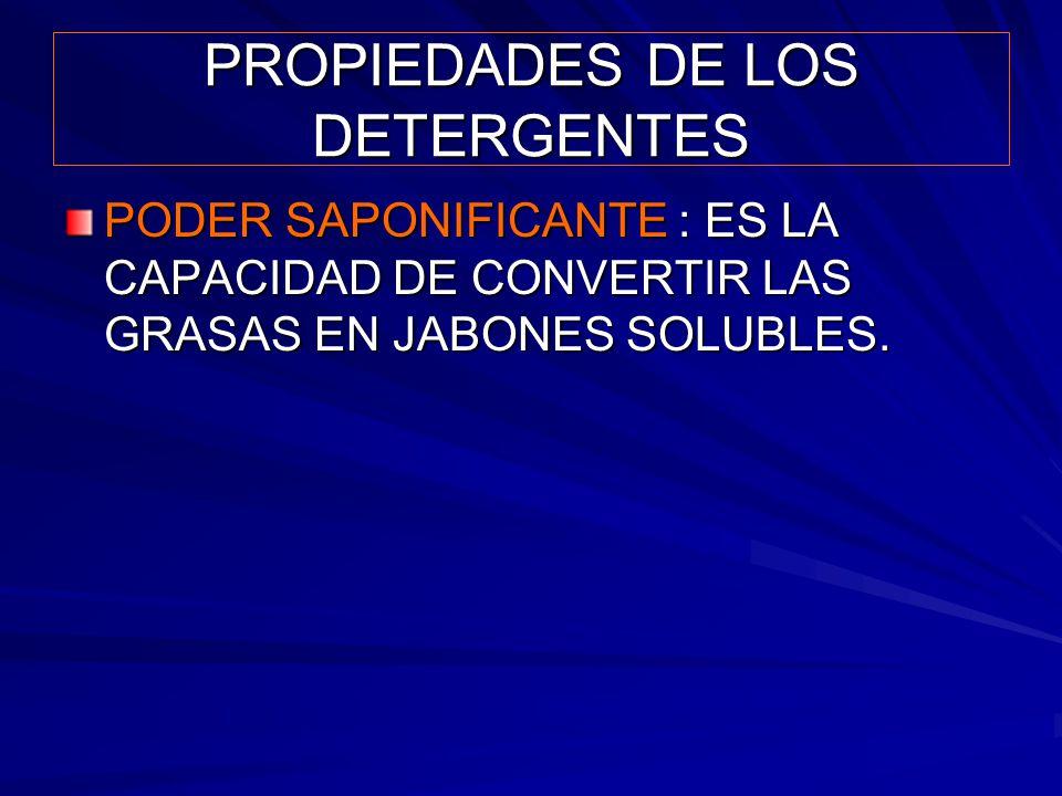 PROPIEDADES DE LOS DETERGENTES