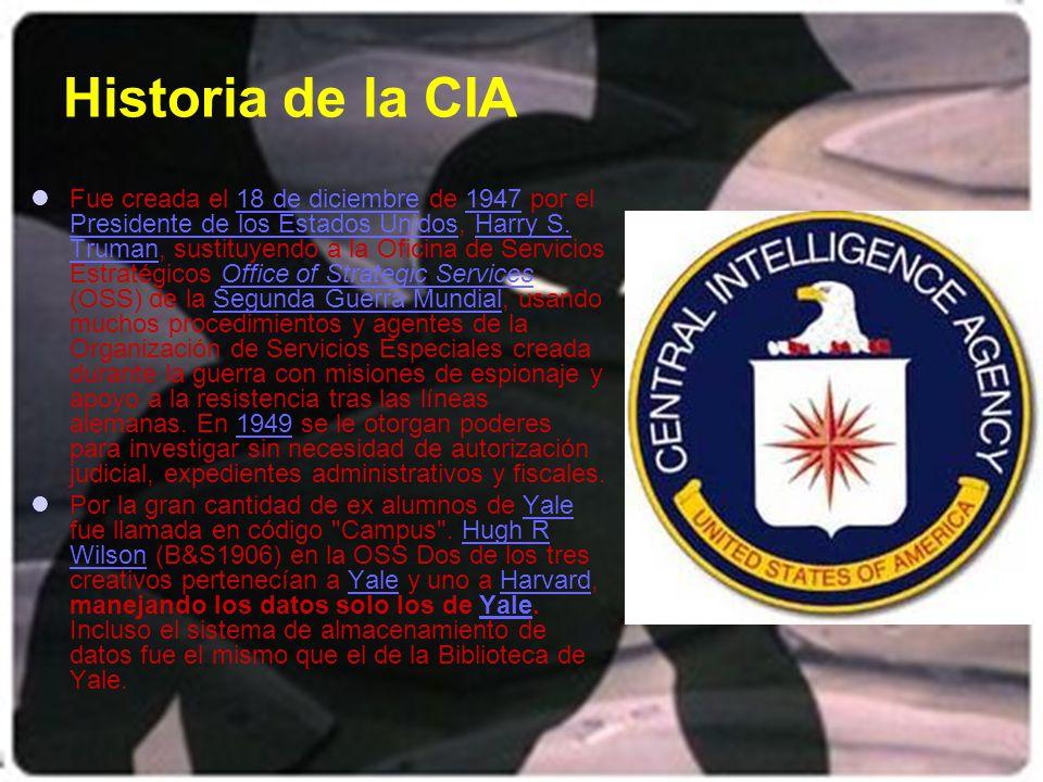 Historia de la CIA
