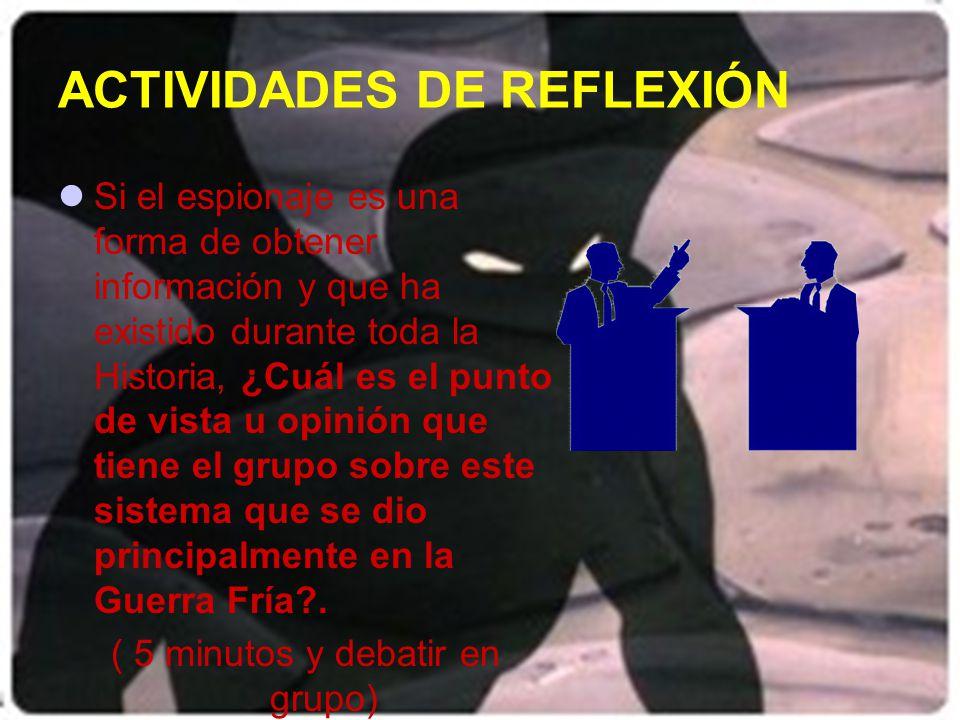 ACTIVIDADES DE REFLEXIÓN