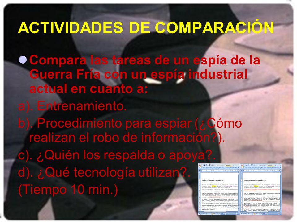 ACTIVIDADES DE COMPARACIÓN