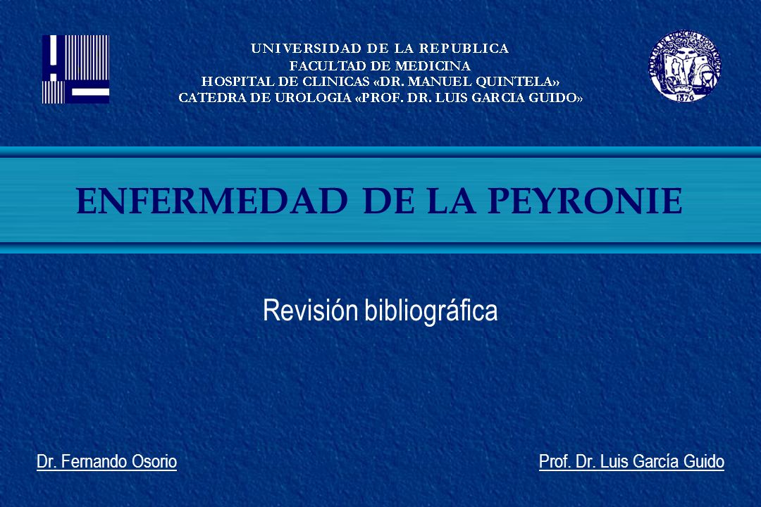 Revisión bibliográfica Dr. Fernando Osorio Prof. Dr. Luis García Guido