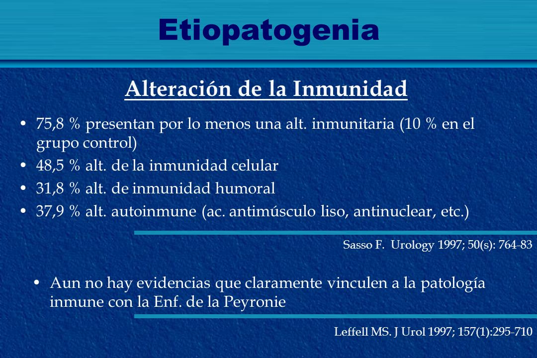 Etiopatogenia Alteración de la Inmunidad