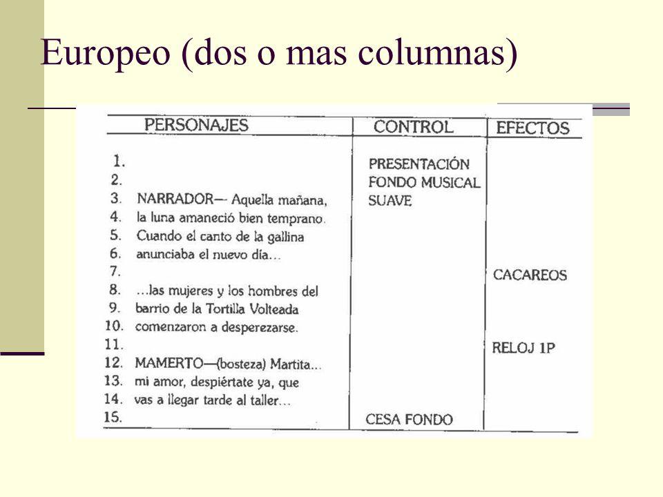 Europeo (dos o mas columnas)