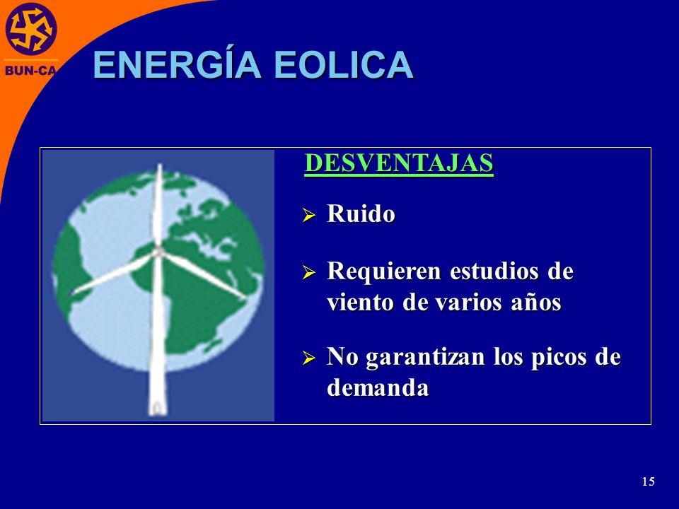 ENERGÍA EOLICA DESVENTAJAS Ruido