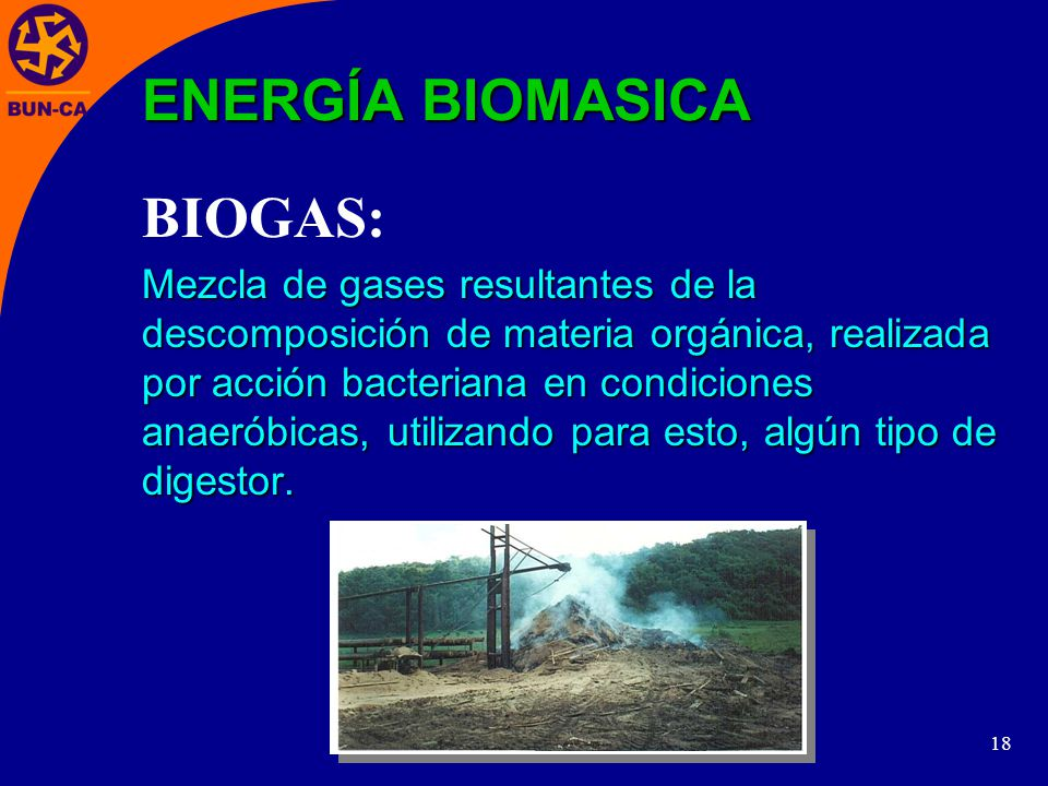 ENERGÍA BIOMASICA BIOGAS: