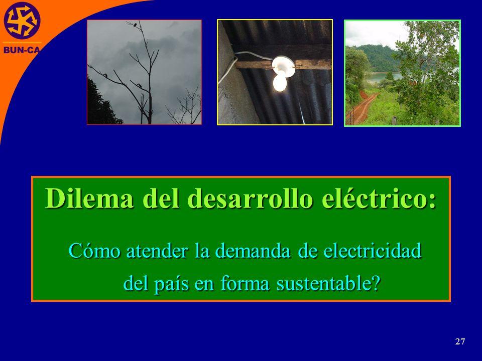 Dilema del desarrollo eléctrico: