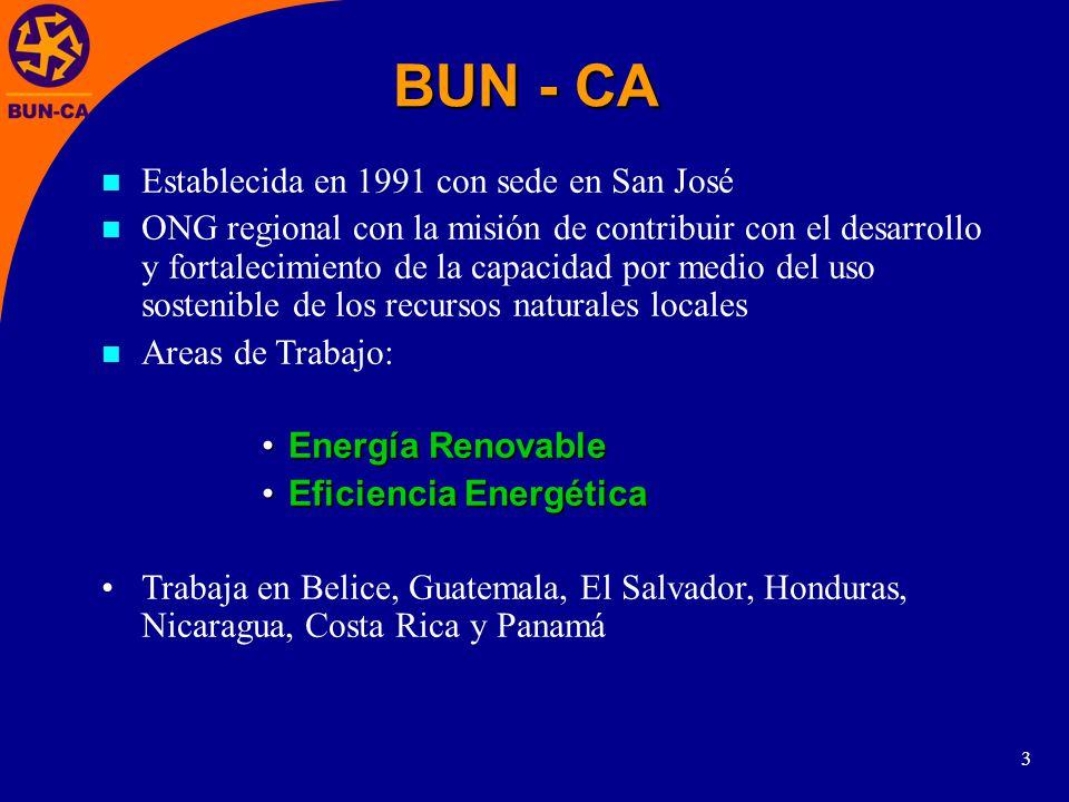 BUN - CA Establecida en 1991 con sede en San José