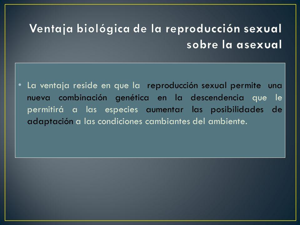 Ventaja biológica de la reproducción sexual sobre la asexual