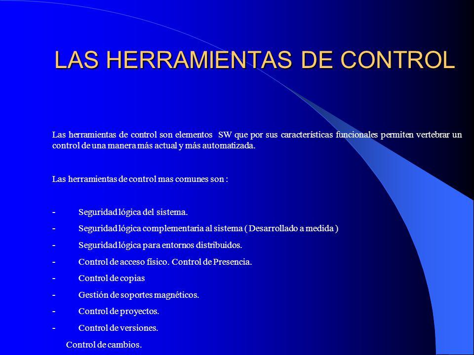 LAS HERRAMIENTAS DE CONTROL