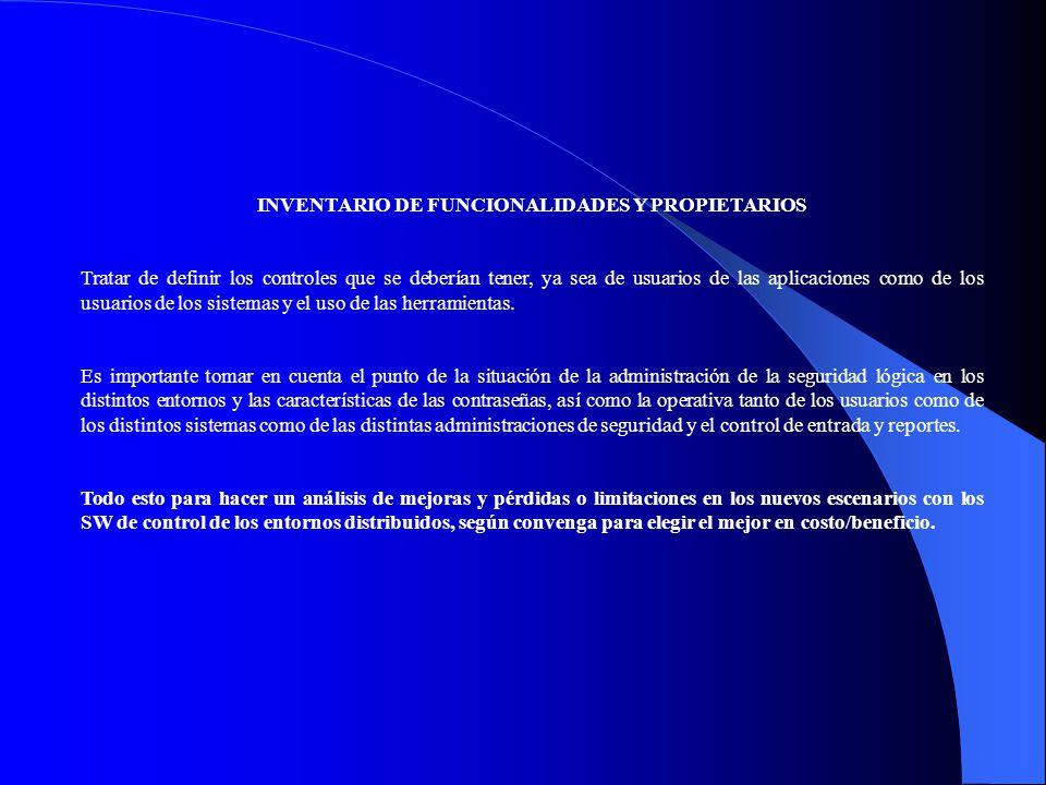 INVENTARIO DE FUNCIONALIDADES Y PROPIETARIOS