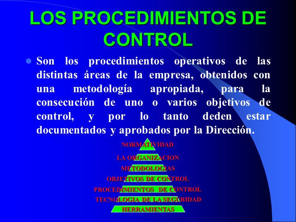 LOS PROCEDIMIENTOS DE CONTROL