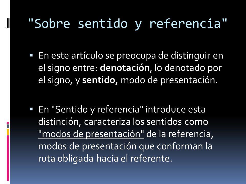 Sobre sentido y referencia
