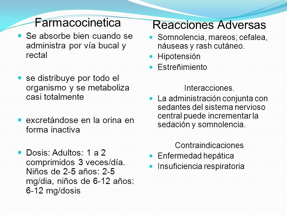 Farmacocinetica Reacciones Adversas