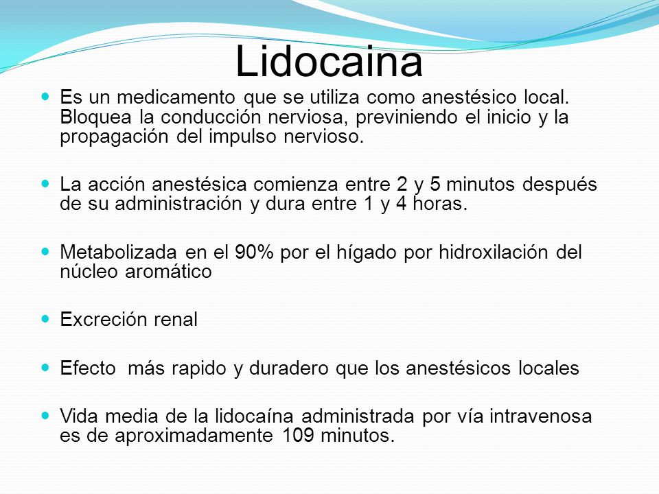 Lidocaina