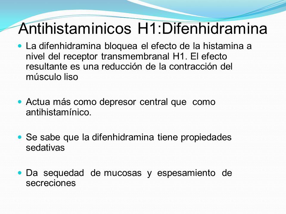 Antihistaminicos H1:Difenhidramina