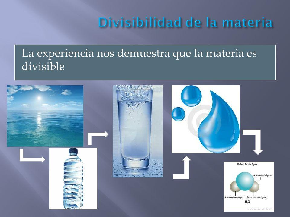 Divisibilidad de la materia