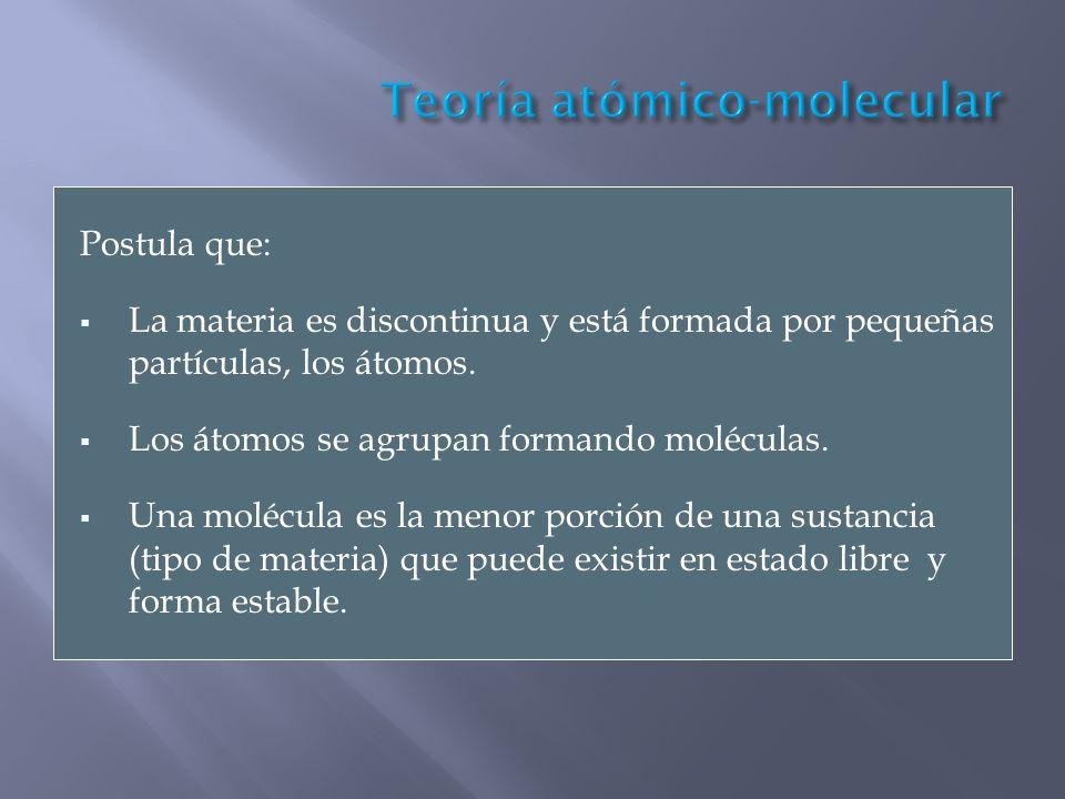 Teoría atómico-molecular