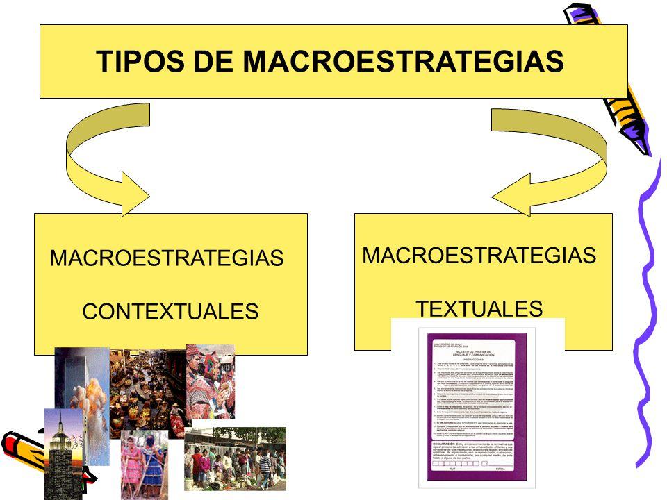 TIPOS DE MACROESTRATEGIAS