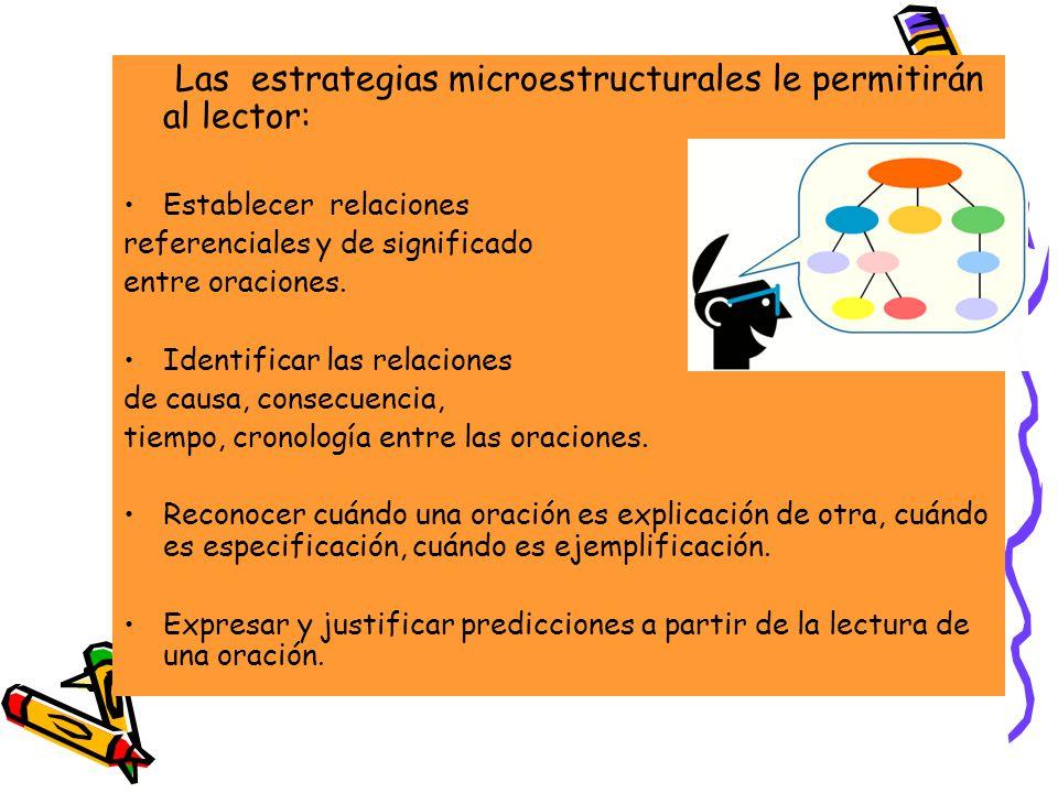 Las estrategias microestructurales le permitirán al lector: