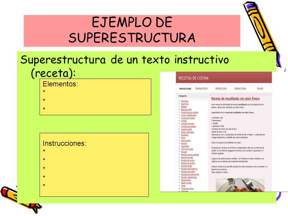 EJEMPLO DE SUPERESTRUCTURA