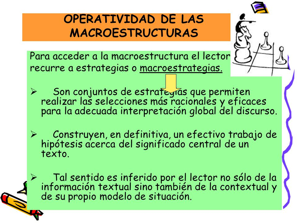 OPERATIVIDAD DE LAS MACROESTRUCTURAS