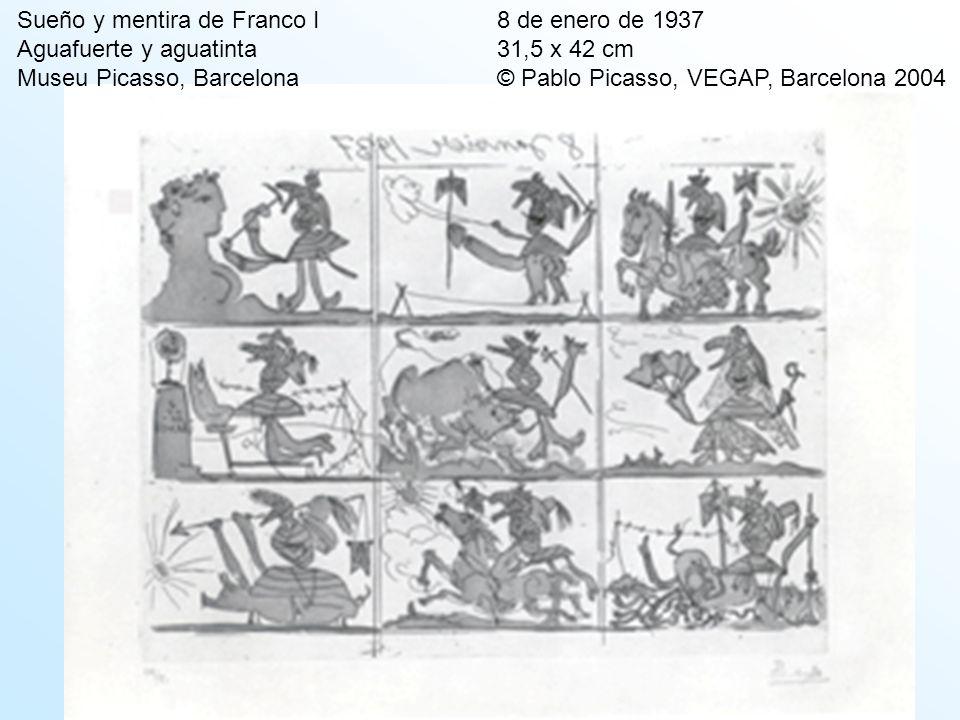 Sueño y mentira de Franco I. 8 de enero de 1937 Aguafuerte y aguatinta