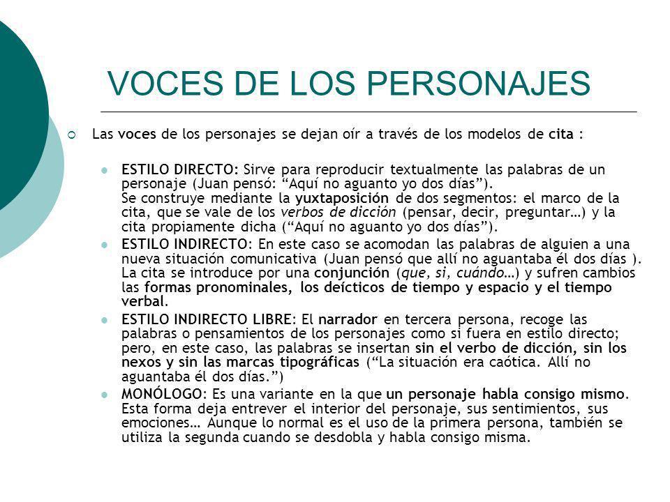 VOCES DE LOS PERSONAJES