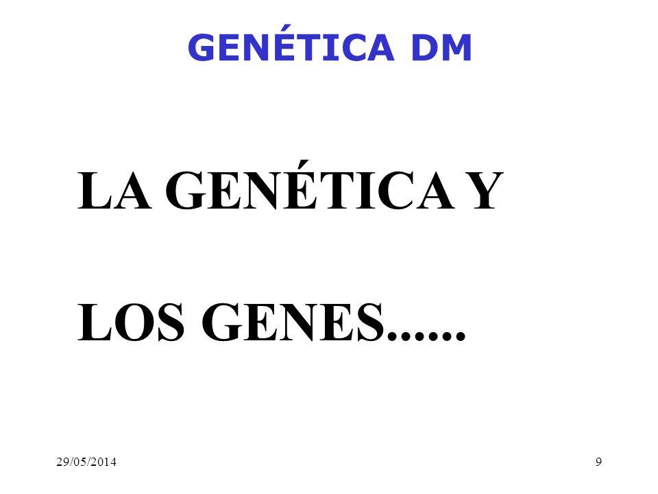 GENÉTICA DM LA GENÉTICA Y LOS GENES...... 31/03/2017