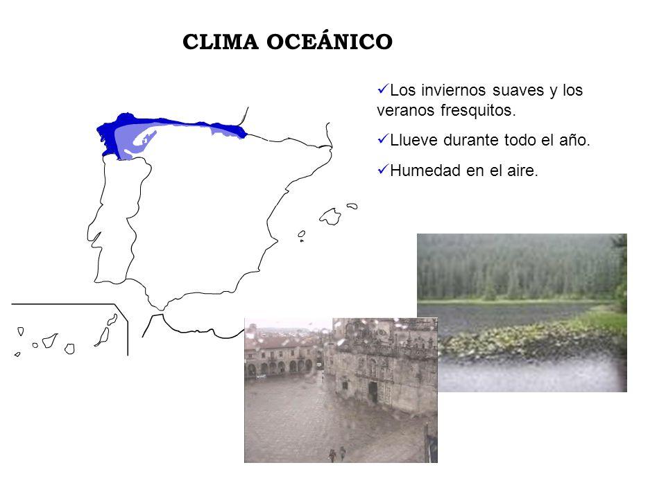 CLIMA OCEÁNICO Los inviernos suaves y los veranos fresquitos.