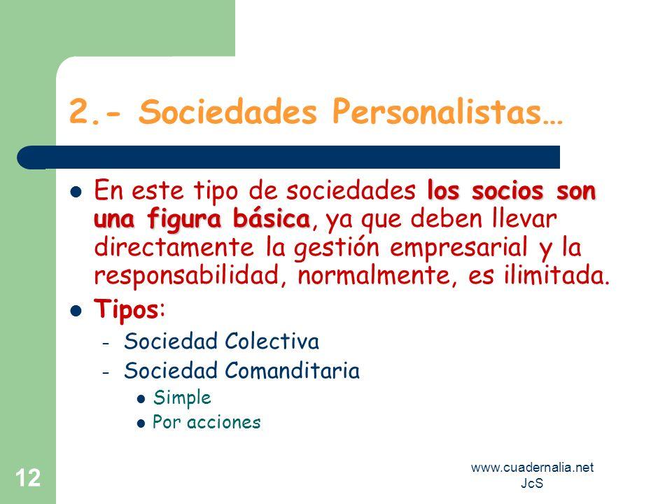 2.- Sociedades Personalistas…