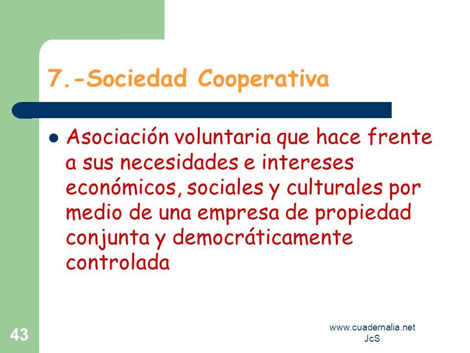 7.-Sociedad Cooperativa