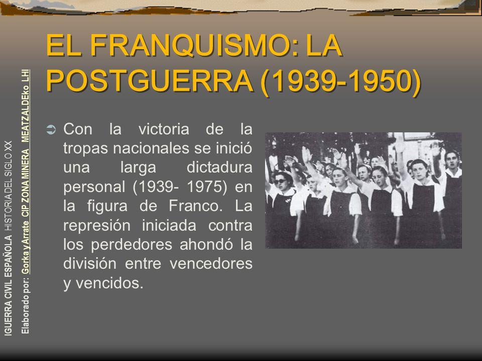 EL FRANQUISMO: LA POSTGUERRA (1939-1950)