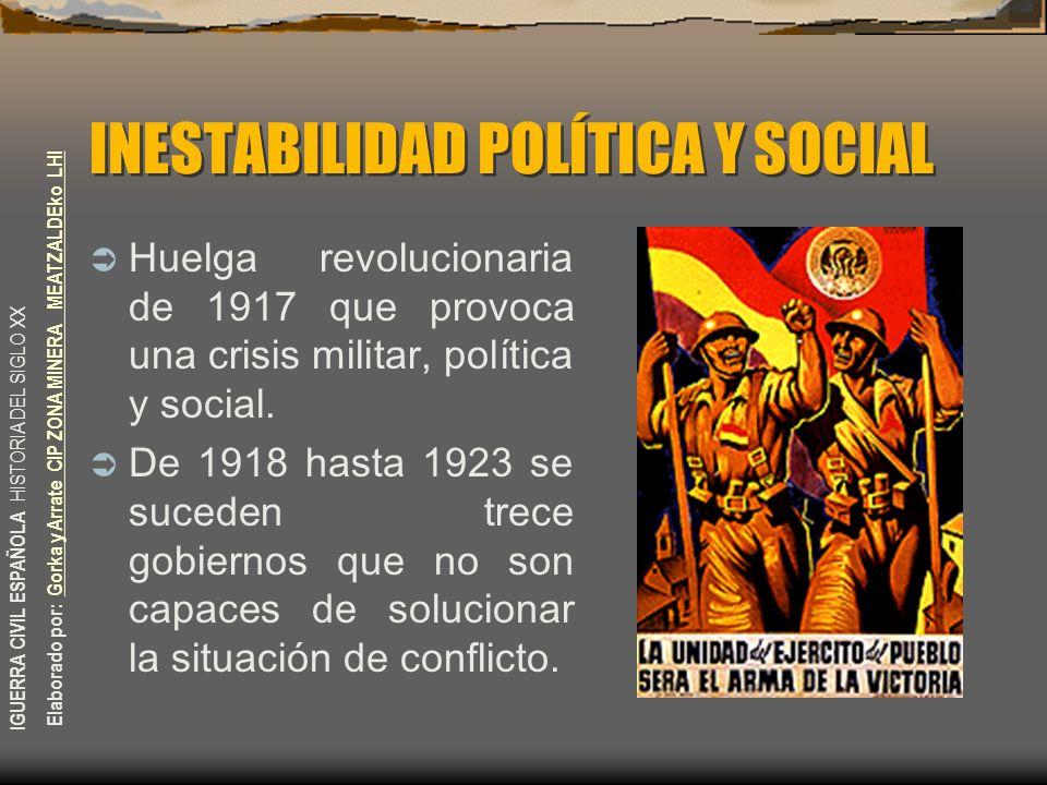 INESTABILIDAD POLÍTICA Y SOCIAL