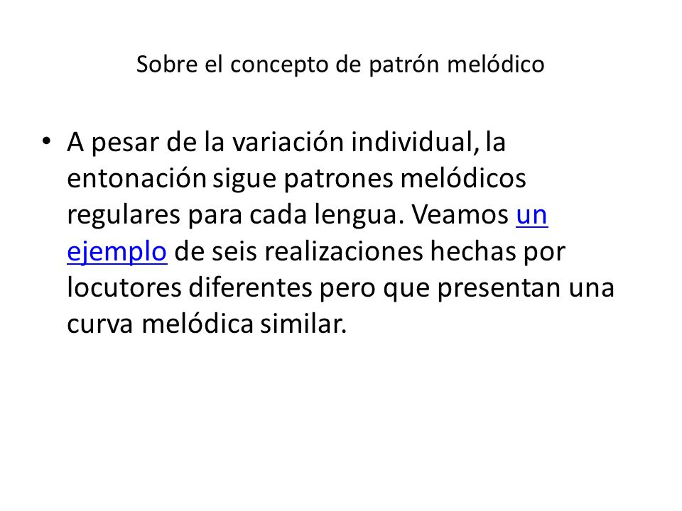Sobre el concepto de patrón melódico