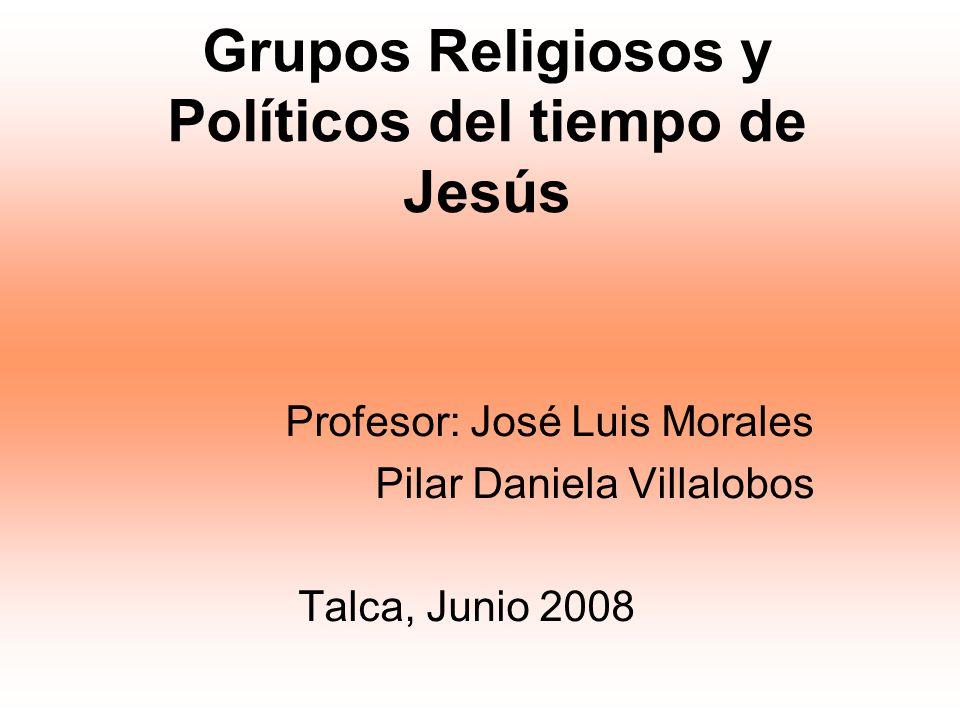 Grupos Religiosos y Políticos del tiempo de Jesús