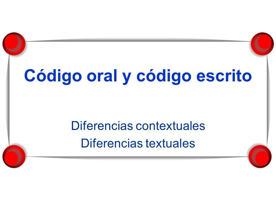 Código oral y código escrito