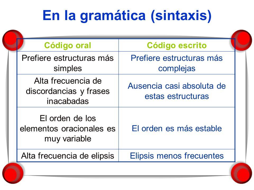 En la gramática (sintaxis)