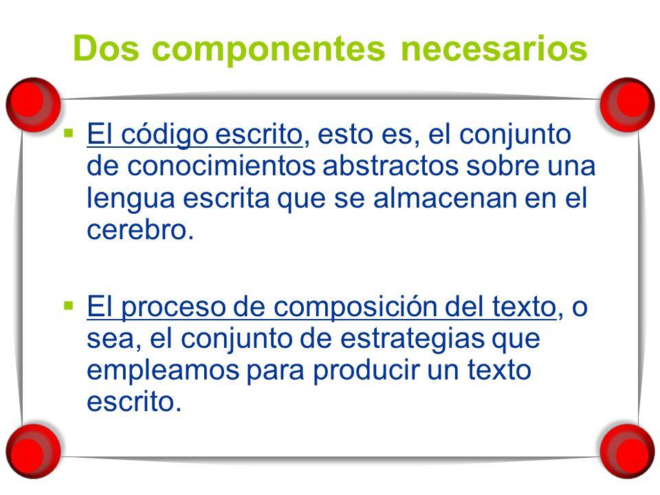 Dos componentes necesarios