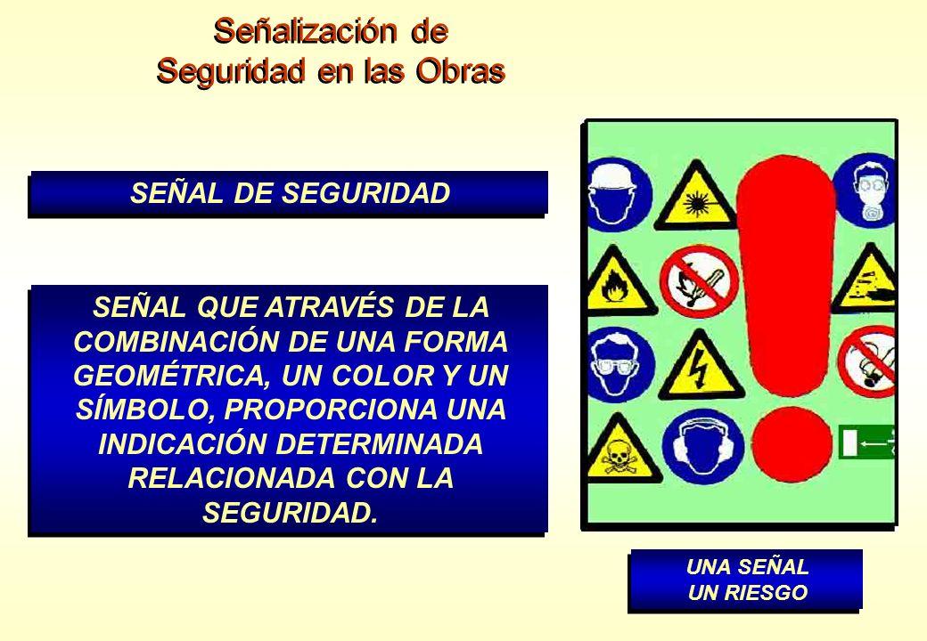 Señalización de Seguridad en las Obras SEÑAL DE SEGURIDAD