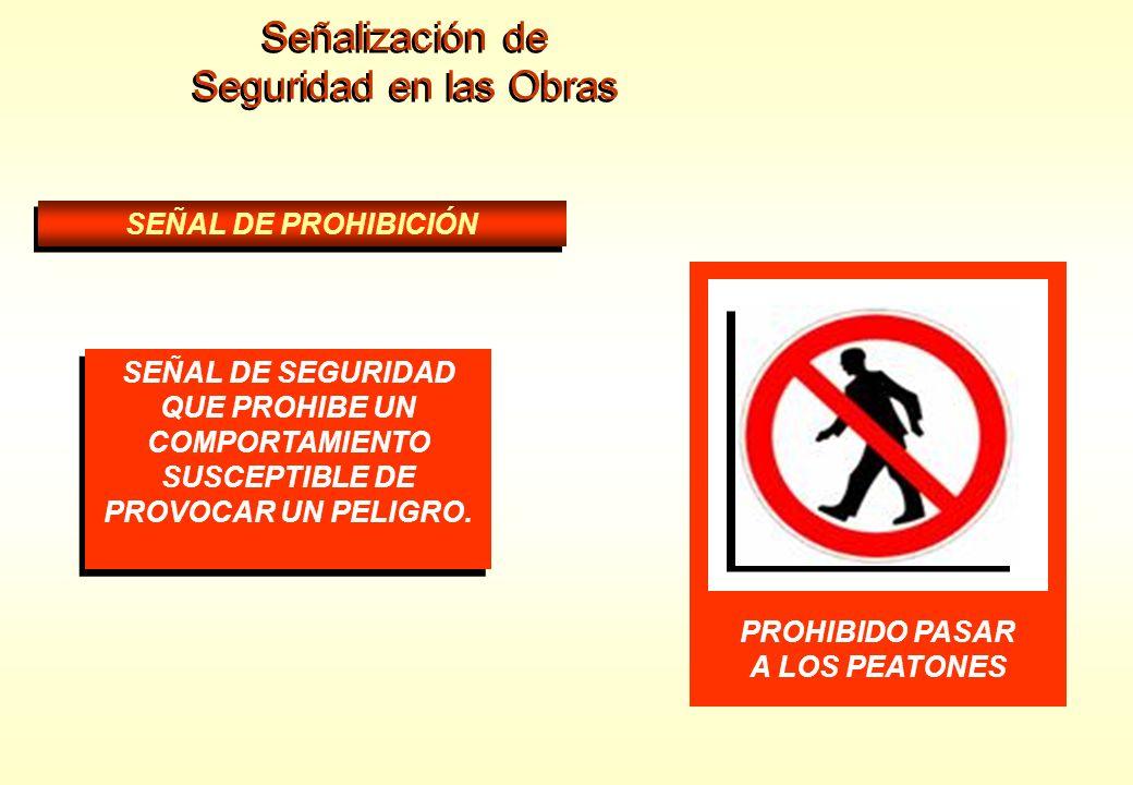 Señalización de Seguridad en las Obras AGUA NO POTABLE