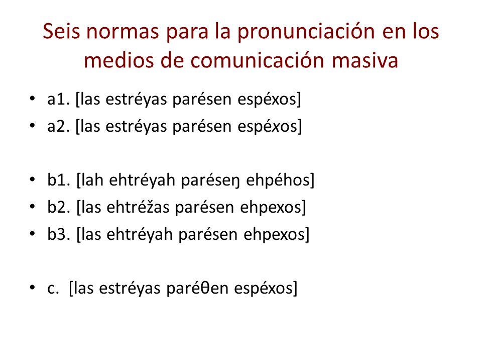 Seis normas para la pronunciación en los medios de comunicación masiva